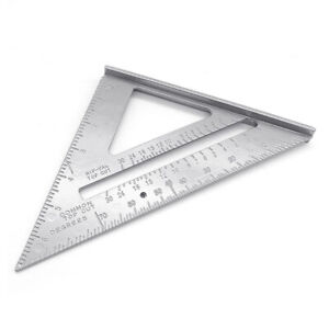 AB HN 7inch Aluminum Alloy Measuring Right Angle Triangle Ruler Woodworking Gu $9.03