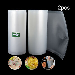 Vacuum Sealer Bags 2 8quot;x 50#x27; Vacuum Sealer Rolls For Food Saver Machine $13.99