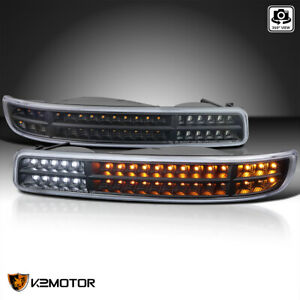 For 1999 2006 GMC Sierra 1500 2500 Black Bumper LightsSequential LED Signal $99.38