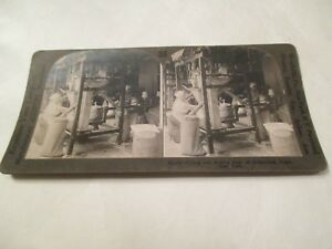 Filling and sewing bags of Granulated sugar New York NY Stereoview Card $11.99