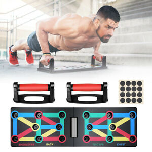 12 In 1 Folding Push Up Rack Board Stand Body Building Fitness Gym Exercise Tool $15.98