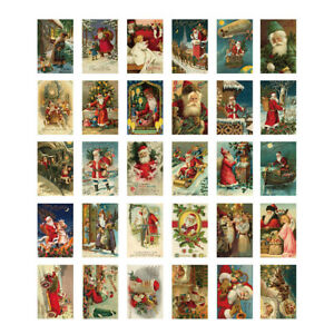 Lot of 30 Vintage REPRO 1910's Christmas Postcard Santa Greeting Card Antique $9.90