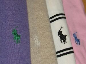 RALPH LAUREN shirt lot of {4} polo shirts mens XLpony all excellent solid stripe $49.99