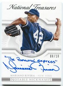 2015 National Treasures Mariano Rivera Nicknames quot;The Panama Expressquot; Auto # 10 $429.99