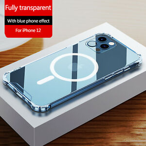 Clear Magnetic Case Mag Safe For Apple iPhone 12 Pro Max 12 Mini 12 Pro Cover $10.82