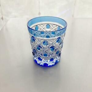 New and unused Edo Kiriko Kagami Crystal Inoguchi Star Anise Cold Sake Glass B
