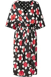 MARC JACOBS Best Line Floral Printed Dress New Black Red UK 8 US 4 Midi $895