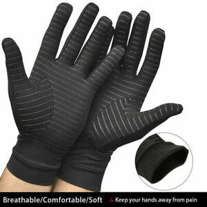 Infused Compression Gloves Arthritis Gloves Full Finger Pain Relief Black $9.99