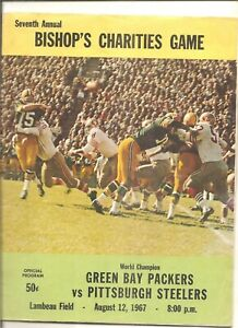 1967 pre season Green Bay Packers vs. Pittsburgh Steelers program