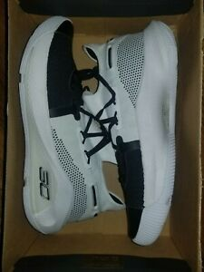 New Under Armour Curry 6 Mens Basketball Shoe Black White Size 10 Free Shipping $99.99