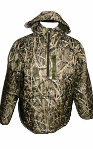DRAKE MST Synthetic Down 1 2 Zip Insulated Camo Hoodie Pullover Jacket Medium
