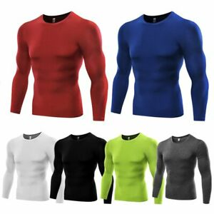 Men Under Base Layer Compression T Shirt Tops Jersey Quick dry Shirts Sports $13.69