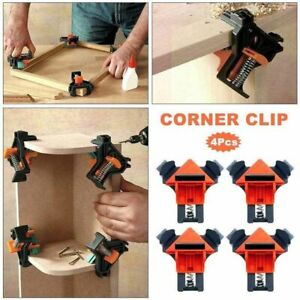 Clamp Corner Clip Angle 4pcs Right Woodworking Fixer Wood Working Frame DIY 90° $22.72