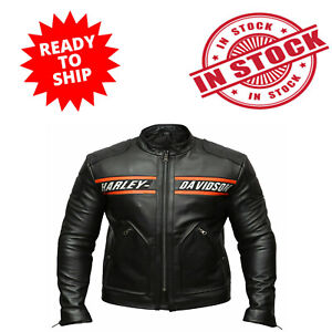 WWE Goldberg Bill Classic Men#x27;s Harley Davidson Black Leather Motorcycle Jacket