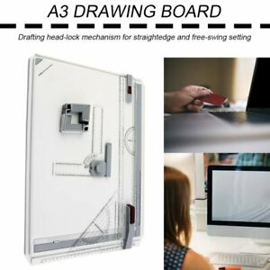 A3 Drawing Board Table with Parallel Motion Adjustable Angle Art Drawing Tools A $67.32