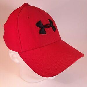 NWOT Bright Red Under Armor Cap with Fitted Look Flexible Fit for M L Nice $14.94