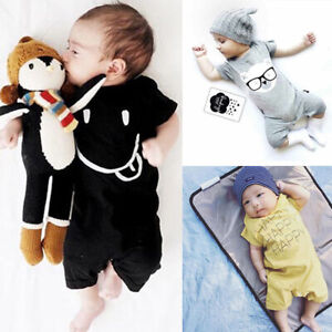 Newborn Baby Girls Boys Romper Jumpsuit Clothes Toddler Casual Romper Playsuit $4.55