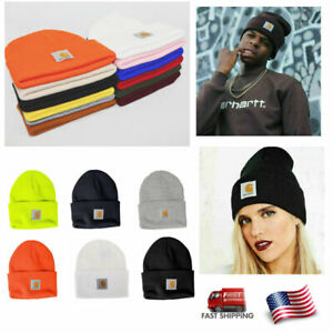 Carhartt Men Women Acrylic Watch Beanie Winter Knit Beanie Cap Hat Choose Color $9.26