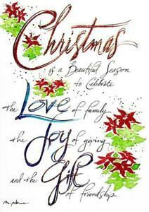 quot;A Beautiful Season to Celebrate Family amp; Friendshipquot; RPG Foil Christmas Card $3.95