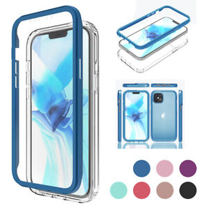 For iPhone 12 Pro Max 12 Mini Clear TPU Case Hybrid Cover with Screen Protector $12.01