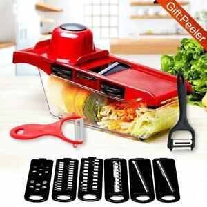 Pro Mandolin Slicer Food Cutter Fruit Vegetable Chopper Grater Peeler w 6 Blade $26.99