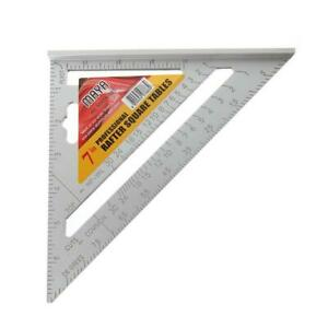 7inch Aluminum Alloy Measuring Right Angle Triangle Tool Woodworking Ruler G9G4 C $7.29