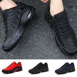 Mens Running Trainers Air Shock Casual Lace Gym Walking Sports Shoes Absorbing $26.65