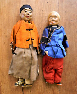 PAIR OF ANTIQUE CHINESE DOLLS $900.00