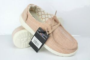 Hey Dude Girls Wendy Low Top Slip On Youth Size 4 Sparkling Rose Gold
