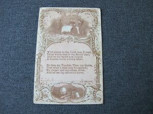 Antique With prayer to the Lord.... signed Teacher Holy Card $1.99