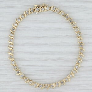 2ctw Diamond Tennis Bracelet 14k Yellow Gold 7quot; 4.5mm