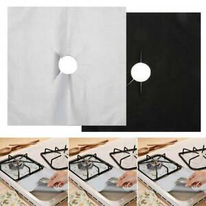Kitchen Reusable Gas Hob Protector Non Stick Stove Range Cooker Covers Liner Top $6.17
