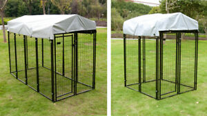 Dog Playpen House Heavy Duty Large Outdoor Dog Kennel Galvanized Steel Fence $279.99