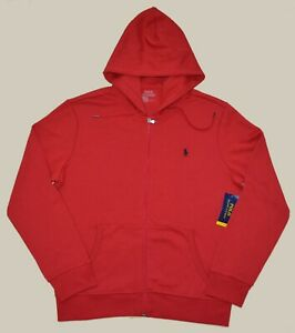 New POLO RALPH LAUREN Mens performance jacket red hoodie L sweatshirt top Large $59.99