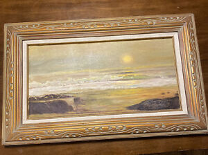 antique oil painting on canvas framed $68.00