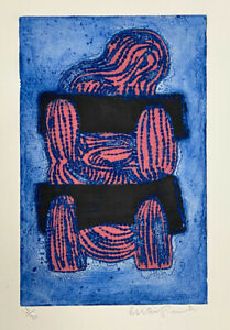 Alistair Grant Jeremiah in Stocks 1968 Signed Limited Edition Lithograph $250.00
