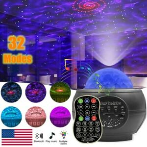 LED Starry Sky Music Projector Lamp Night Light Galaxy Starry Christmas XmasGift $24.98