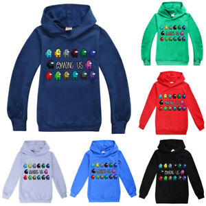 Among Us Boys Hoodie Long Sleeve Sweatshirt Kids Chlid Hooded Xmas Pullover Tops $15.57