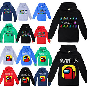 Among Us Kids Boys Hoodie Jumper Sweatshirt Gamer Hooded Tops Pullover Xmas Coat $15.57