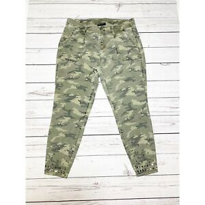 Lane Bryant Camouflage Women's Skinny Ankle Pants Sz 16 Tacks Details Mid Rise