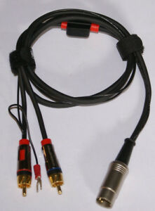 Bang Olufsen Turntable Cable 5 Pin Male DIN Monster RCA Males W Ground 6ft NW $36.99