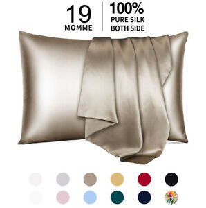 100% Pure Mulberry Silk Pillowcase 19 Momme Bed Pillow Cases for Hair and Skin $18.99
