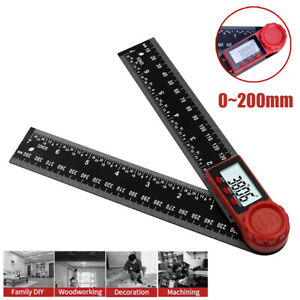 8quot; LCD Digital Angle Finder Ruler 360° Protractor Measure Tool Angle Gauge $11.99