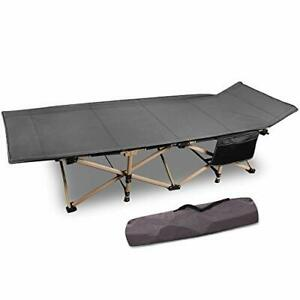 CAMPMOON Folding Camping Cots for Adults 500lbs Heavy Duty Sturdy Portable