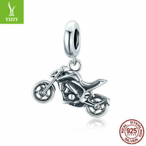 Fashion Women Authentic 925 Sterling Silver Motorcycle Charms Bead fit Bracelet $9.77