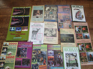 Lot of 33 State of Michigan MI Hunting and Fishing Guides 1993 2000
