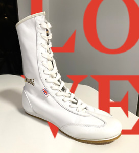 ***NEW***Lonsdale Boxing Boots Women`s Color White Leather. Sizes 5 6 7 U.S. $19.00