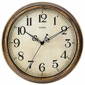 Wall Clock 12 Inch Vintage Wall Clocks Battery Operated Retro Silent Non $34.05