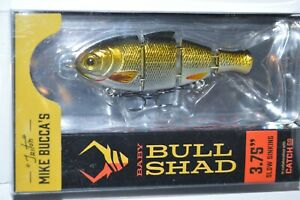 Catch co mike bucca#x27;s baby bull shad swimbait 3.75quot; slow sink golden shiner
