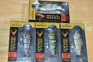 4 lures Catch co mike bucca#x27;s baby bull shad swimbait 3.75quot; slow sink assortment